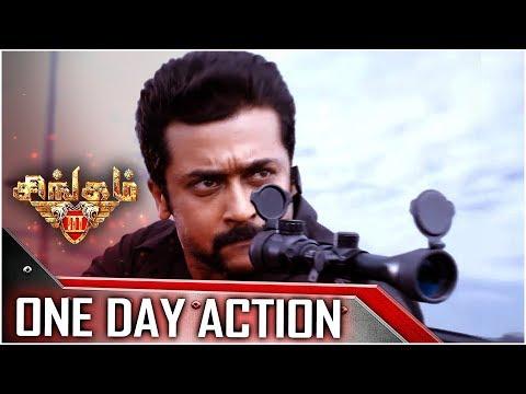 Singam 3 - Tamil Movie - One Day Action | Surya | Anushka Shetty | Harris Jayaraj