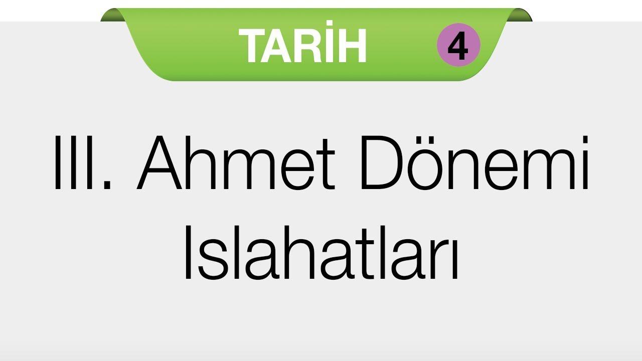 III. AHMET DÖNEMİ VE LALE DEVRİ