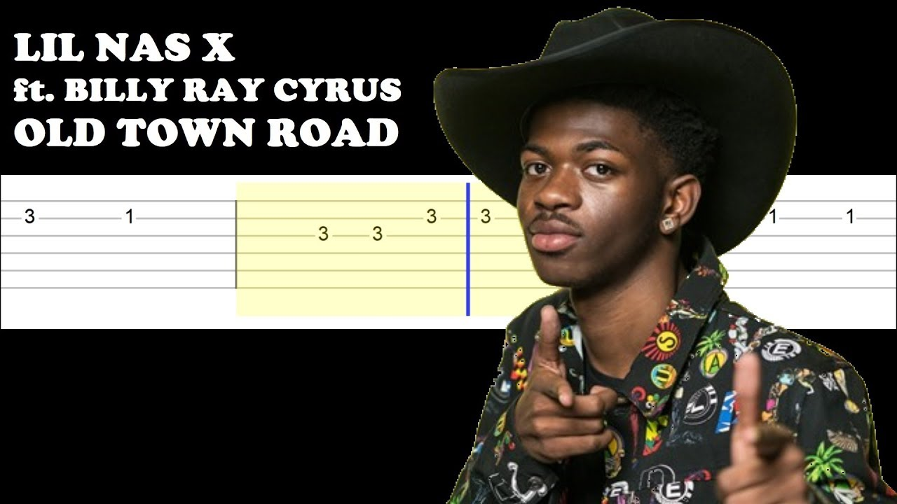 Lil Nas X ft. Billy Ray Cyrus - Old Town Road (Easy Guitar ...