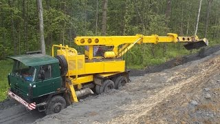 Tatra 815 UDS-114  planning slopes part 3(Tatra 815 UDS -114 telescopic excavator planning slopes Экскаватор-планировщик Татра 815 УДС-114 планирует откосы ▽▽▽▽▽▽▽▽▽▽▽▽..., 2016-08-09T04:05:50.000Z)