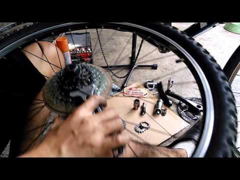 วิธีถอดเฟืองท้ายจักรยาน แบบสวม & เกลียว/สลับเฟืองเสือหมอบ+เสือภูเขา