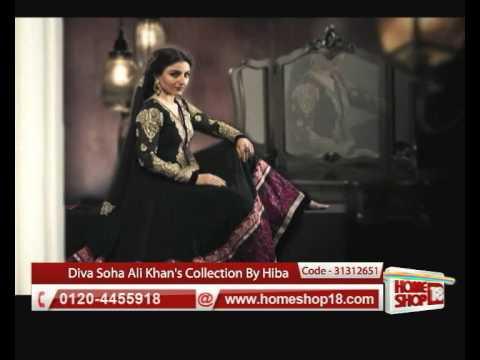 HomeShop18.com - Diva Soha Ali Khan's collection of Anarkali suits by Hiba