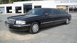 1998 Cadillac Deville 6 Door Limousine Start Up, Engine, and In Depth Tour