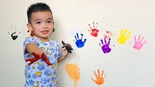 Learn Colors for kids with Hand Painting, Nursery Rhymes Songs for Children