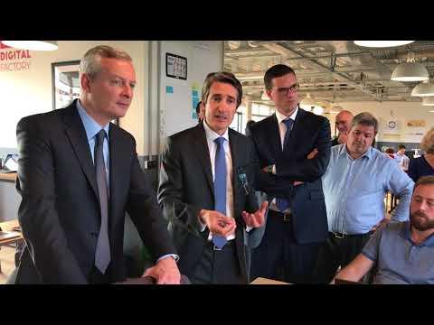 Inauguration de la Digital Factory par Bruno Le Maire