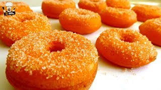 HOW TO MAKE HOMEMADE ORANGE DONUTS - SIMPLECOOKINGCHANNEL