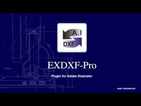 DXF file converter for Adobe Illustrator - EXDXF-Pro