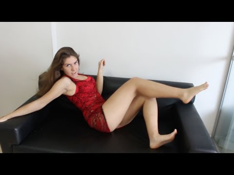 Red Lace See Through Mini Dress - Bootygirl Sanya 160911