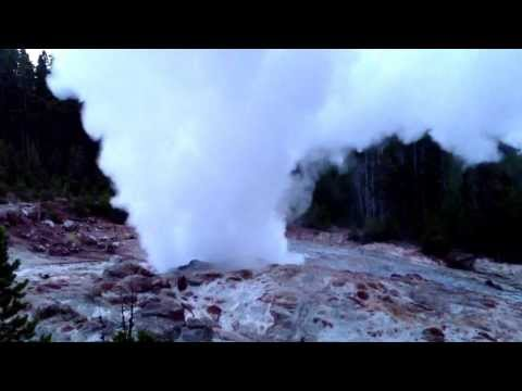 Steamboat Geyser eruption in yellowstone National Park Wednesday July 31, 2013