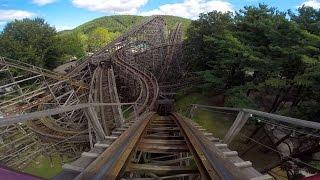 Twister front seat on-ride HD POV Knoebels Amusement Resort
