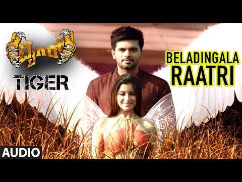 Tiger Kannada Movie Songs   Beladingala Raatri Full Song   Pradeep, Madhurima   Arjun Janya