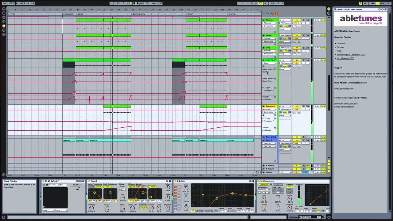Ableton Live Electro House Template Project Head Hunter By