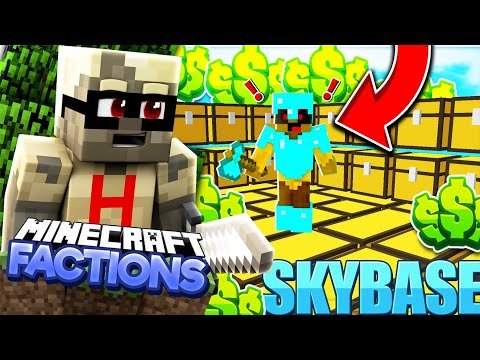 *RAiDING SKY BaSE*Minecraft PE Factions Server-[MCPE 1.14.0+ FACTIONS]