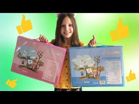 Обзор на детский набор для творчества 176 предметов/набор для рисования с мольбертом /Алька