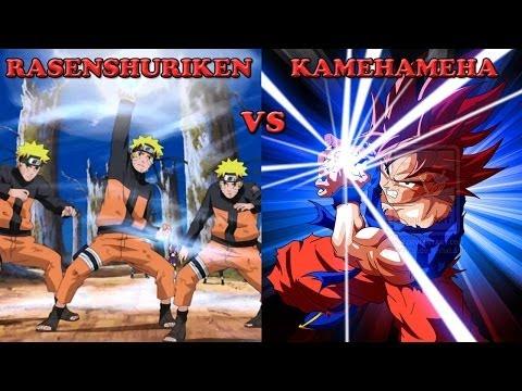 Rasenshuriken vs Kamehameha - Is Naruto or Goku