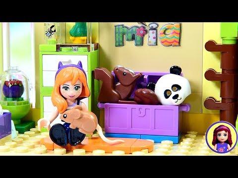 Little Mia's Jungle Themed Toddler Room - Custom Lego Friends Girls Bedroom DIY Build