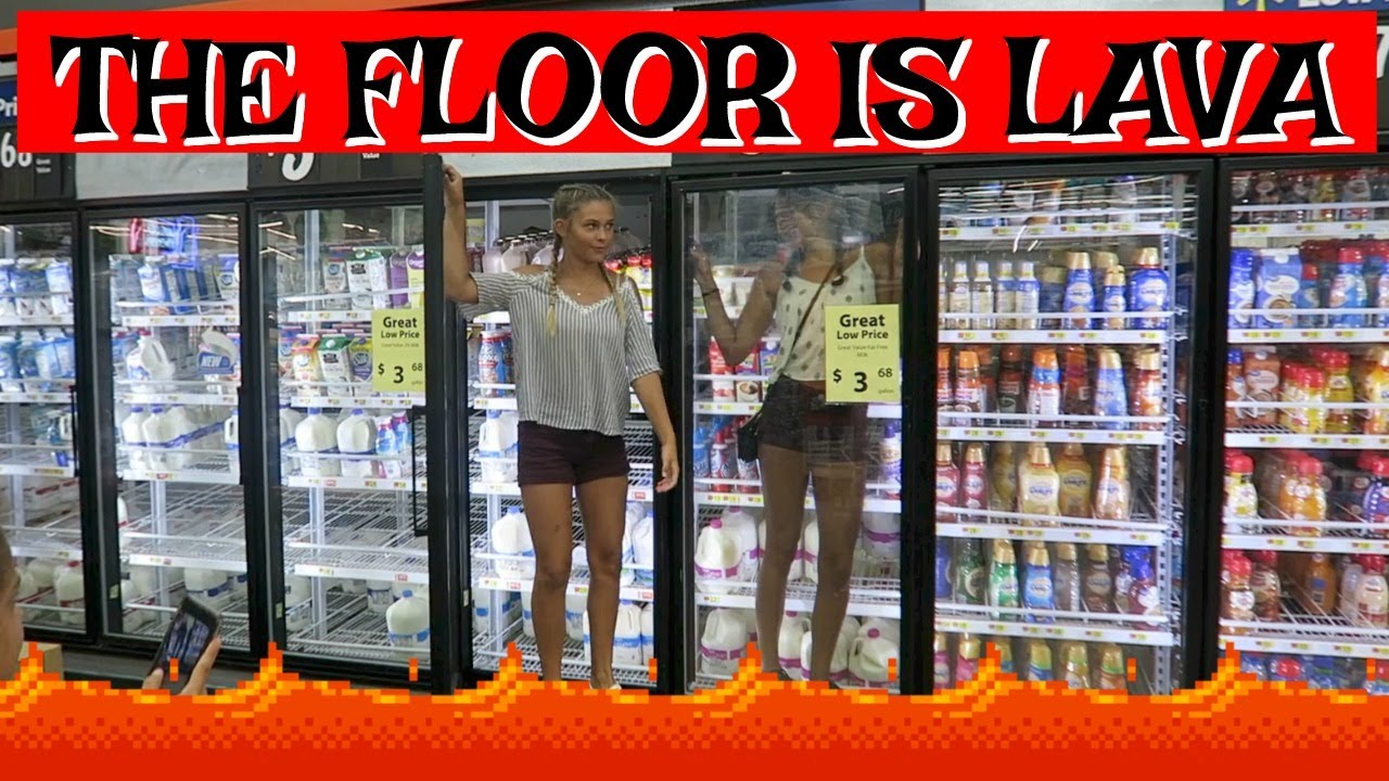 FLOOR IS LAVA CHALLENGE AT TARGET WALMART GETTING READY FOR