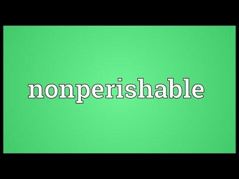 Header of nonperishable