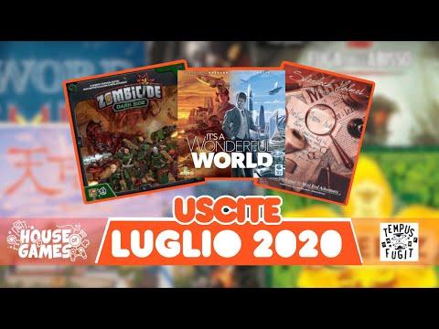 I Giochi da Tavolo in USCITA a LUGLIO 2020