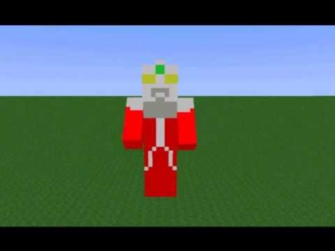 Minecraft Animation - Ultraseven transformation Travel Video