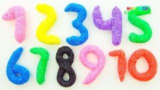 Учим цифры с Пластилином PLAY-DOH | Учимся считать от 1 до 20 с шариковым пластилином | Учим цвета