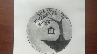 easy pa circle scenery draw step beginners