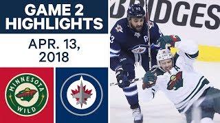 NHL Highlights   Wild vs. Jets, Game 2 - Apr. 13, 2018