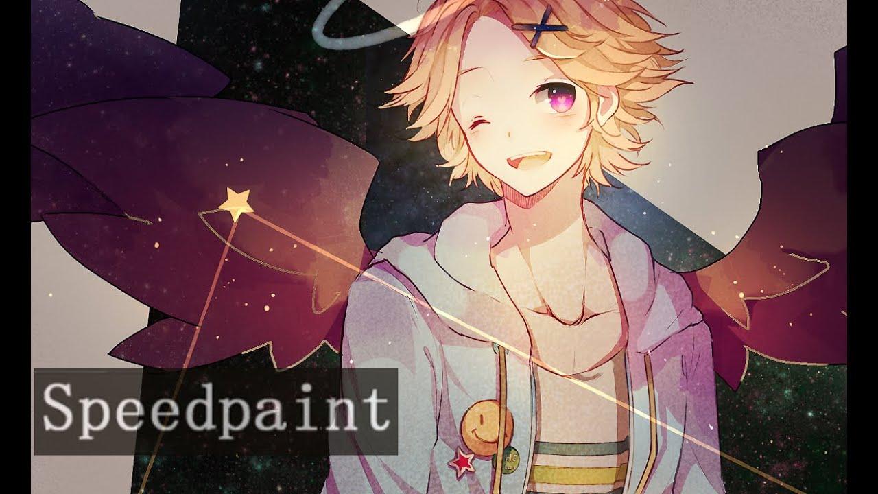 Meteor Falling Wallpaper Paint Tool Sai Speedpaint Yoosung Mystic Messenger