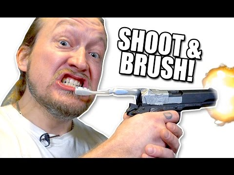 HANDGUN TOOTHBRUSH | The Jarppi Show 1/6 | Dudesons