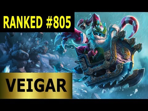 Veigar Mid - Full League of Legends Gameplay [German] Lets Play LoL - Ranked #805