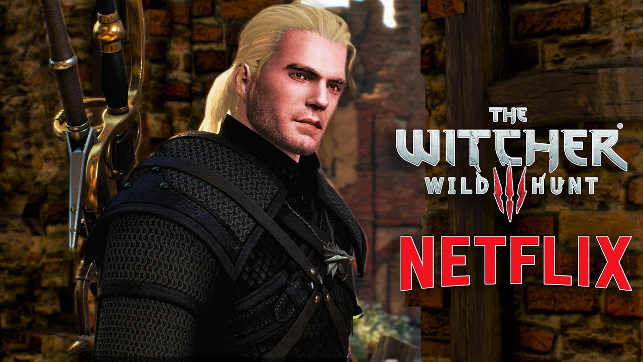 The Witcher 3 Henry Cavill Updated Face Mod The Witcher 3 Mod Netflix S The Witcher Youtube