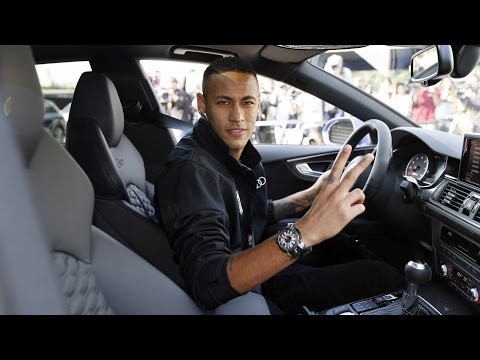 The FC Barcelona players get their new Audi cars