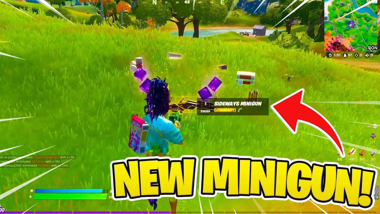Epic added a NEW MINIGUN!!! 😱