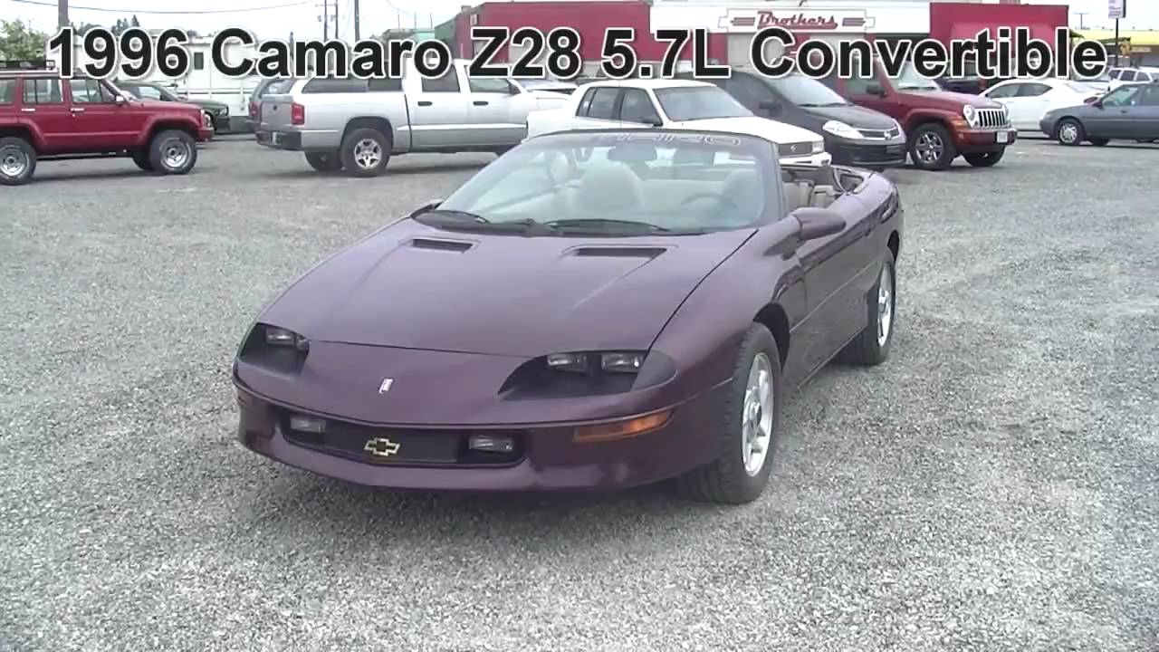 1996 Chevrolet Camaro Z28 5 7l Auto Convertible  8up28