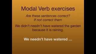 modal exercises