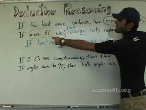 Geometry - Deductive Reasoning - YouTube