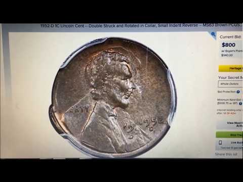 COIN ROLL HUNTERS BIZARRE PENNY FIND SOLD AT HERITAGE AUCTIONS FOR $1116!!