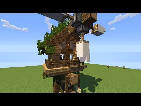 Minecraft-Hướng Dẫn Xây 1 Ngôi Nhà Nhỏ Trên Cây Đẹp #3