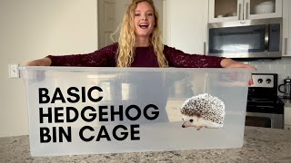 Setting Up A Basic / Budget Friendly Hedgehog Cage