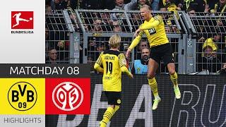 Borussia Dortmund 1 FSV Mainz 05 3 1 Highlights Matchday 8 Bundesliga 2021 22