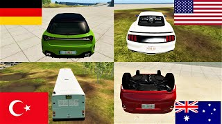 How different countries drive in BeamNG Drive