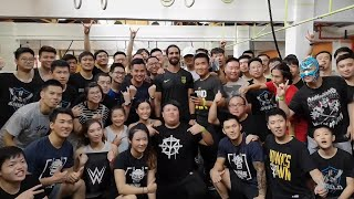Seth Rollins hosts a CrossFit session in Shanghai