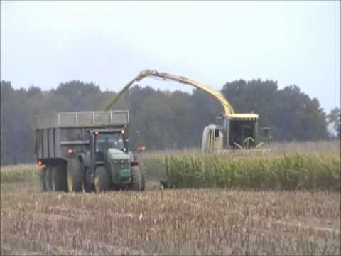 MAPLE CREST FARMS SILAGE CHOPPING CHOPPER WORKING VIDEO  2012 HUNTINGTON, INDIANA 9 13 12
