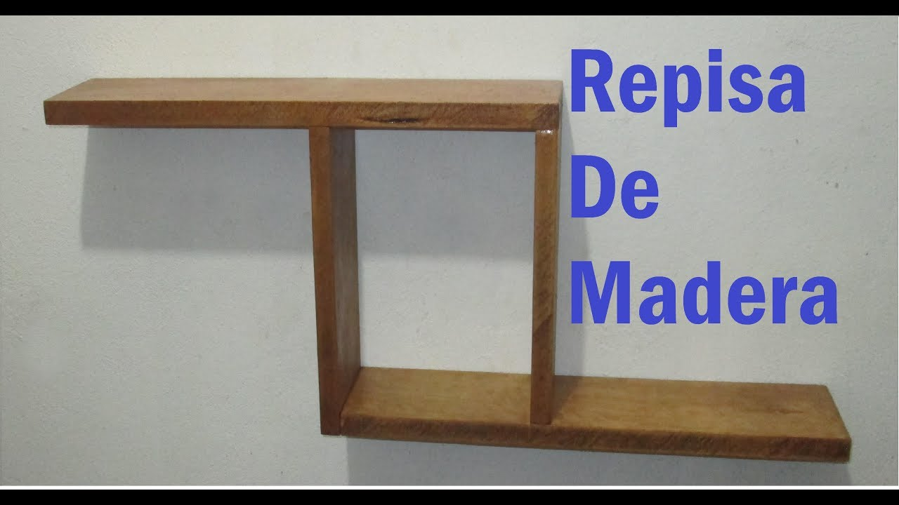 Como hacer repisa de madera tipo z 16 youtube for Como hacer tejados de madera