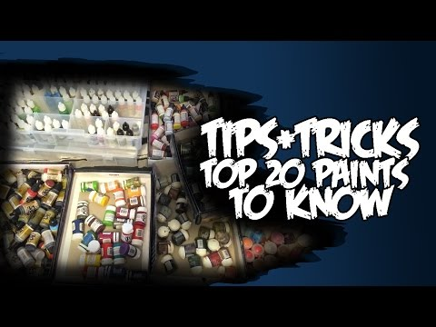 Top 20 Miniature Paints To Know - Tutorial