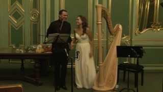Луи Друэ «Концертные вариации для флейты и арфы» (фрагмент)
