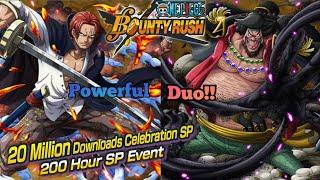 5* yonko shanks and blackbeard duo gameplay!! 200 hours sp event【one piece bounty rush】