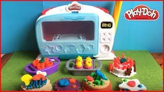 Playdoh Kitchen Creation LÒ NƯỚNG BÁNH THẦN KÌ làm bánh với kem & nước sốt Đồ chơi trẻ em Chim Xinh