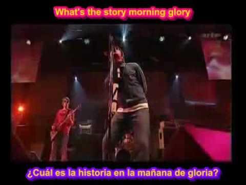 SUBTITULADA  Morning glory OASIS SUBTITULOS ESPAÑOL-INGLES lyrics legendada spanish english
