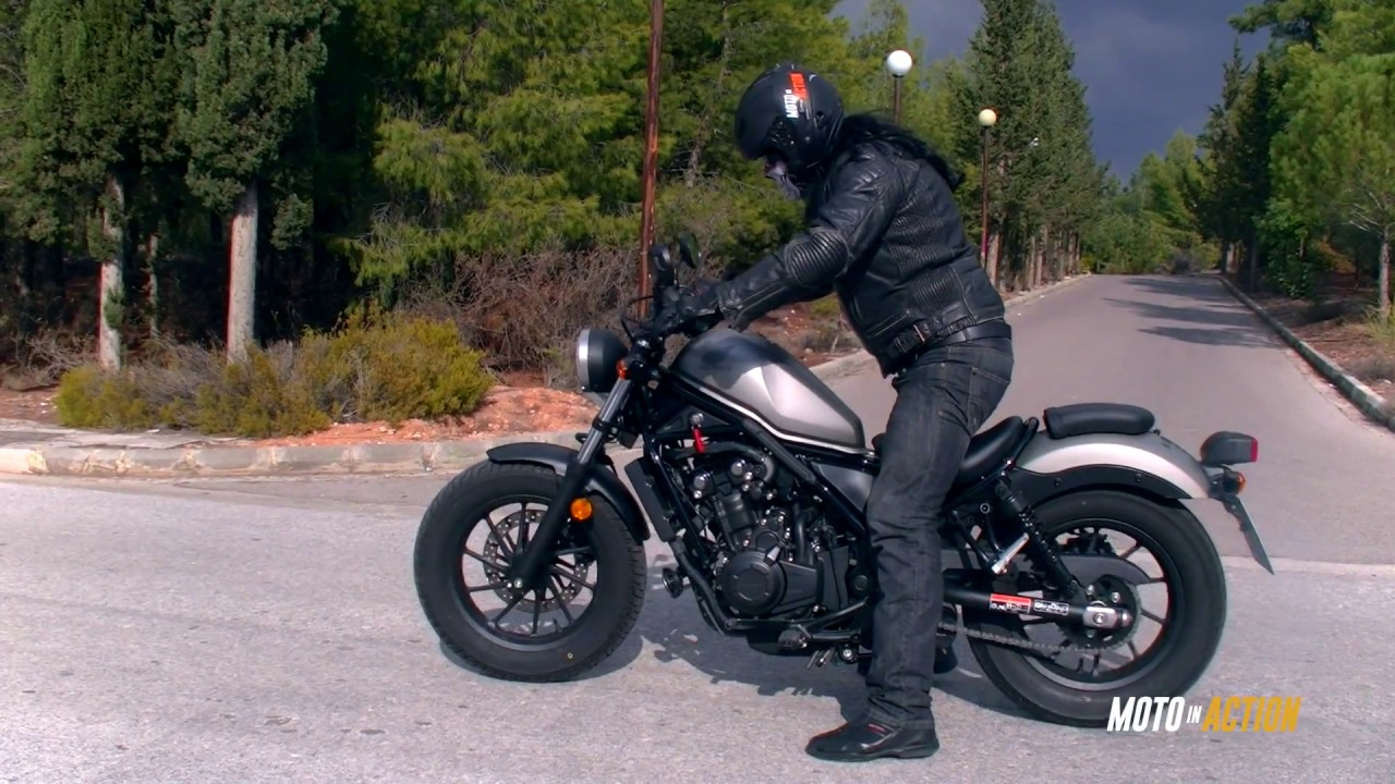 honda rebel 500 cmx moto in action youtube. Black Bedroom Furniture Sets. Home Design Ideas